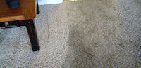 After and Before of a carpet that we cleaned.